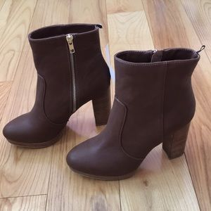 H&M brown faux leather booties